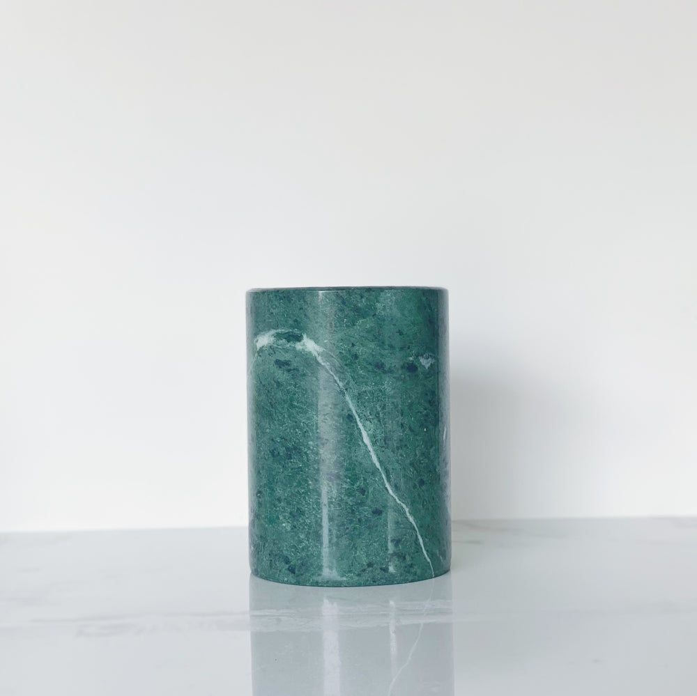 Green Marble Utensil Holder / Vase