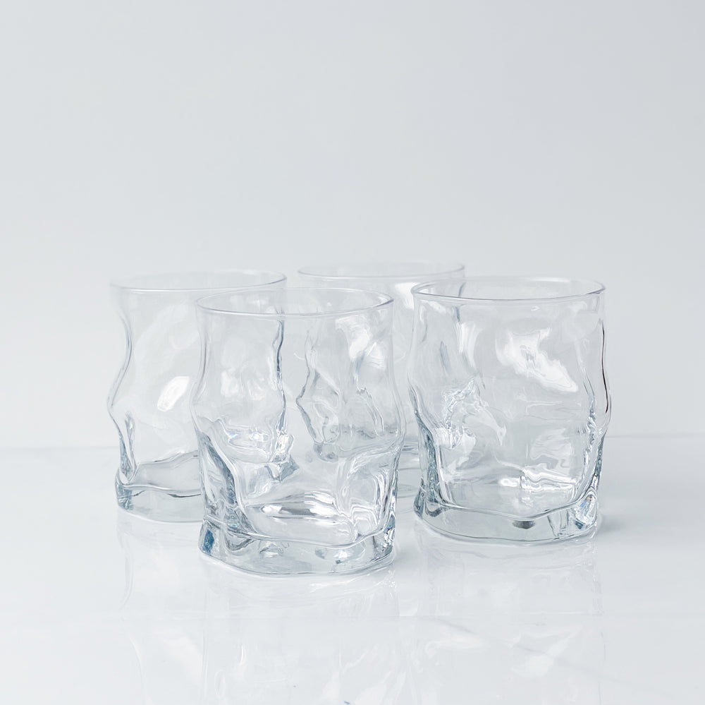 Crumpled Drinking Glasses (Set of 4)