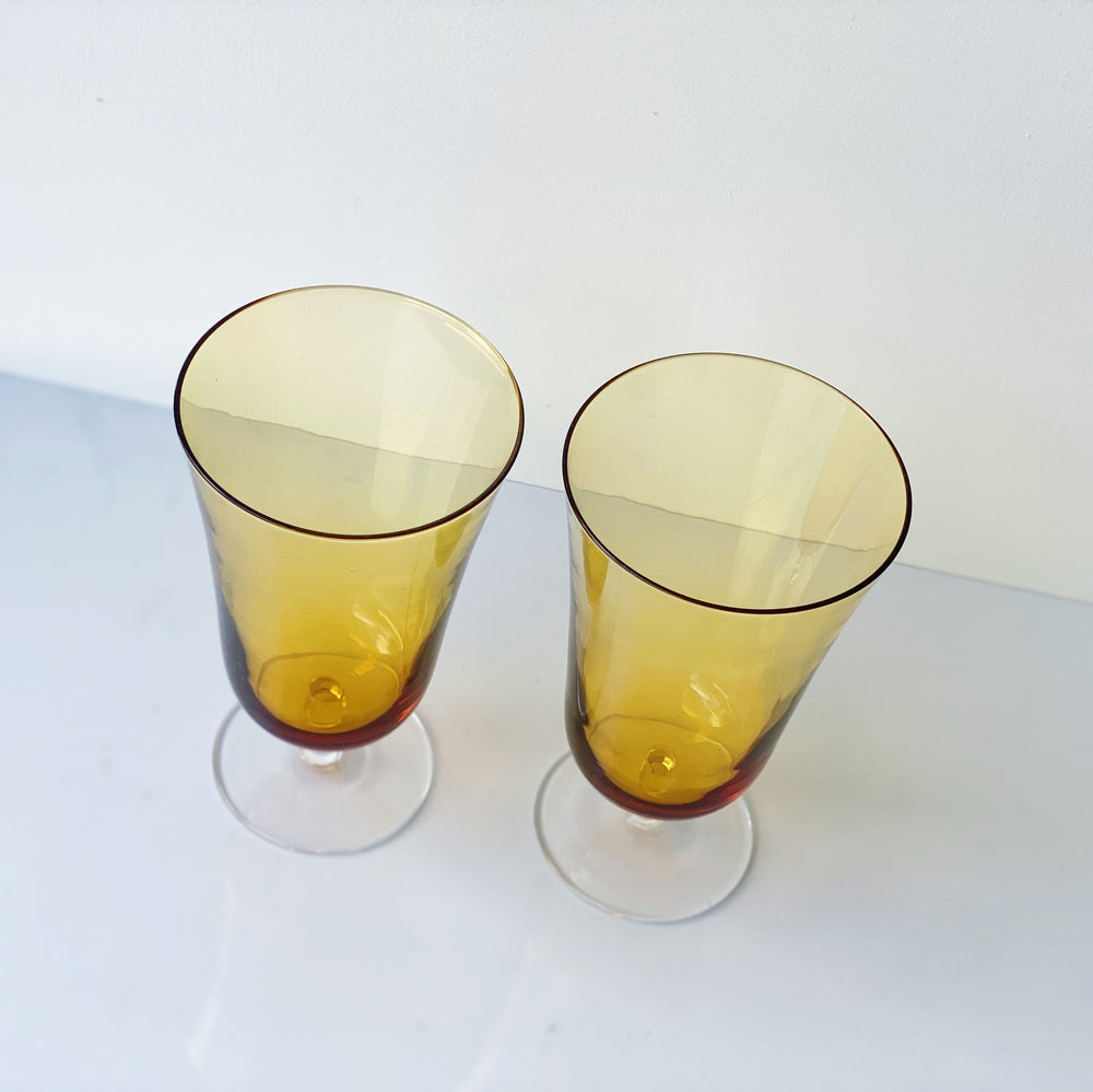 Gold Footed Glasses (Set of 4)