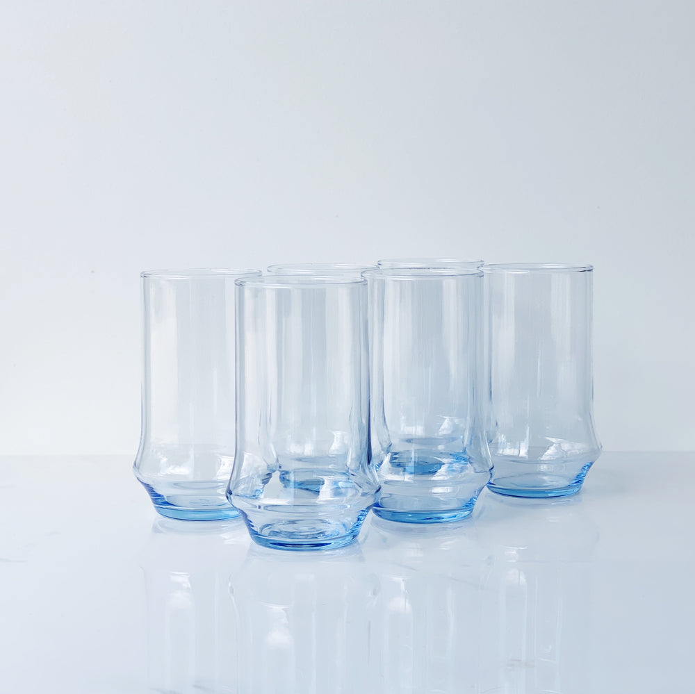 Azure Blue 16oz Rocks Cooler Glass (Set of 6)