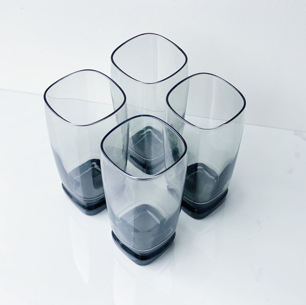 Smoky Gray Drinking Glasses (Set of 4)