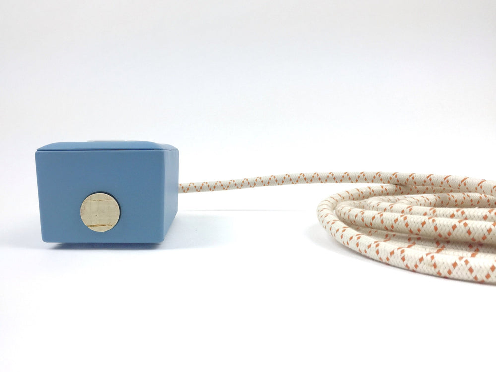 Matte Sky Blue 2-Outlet Extention - 6ft Cord