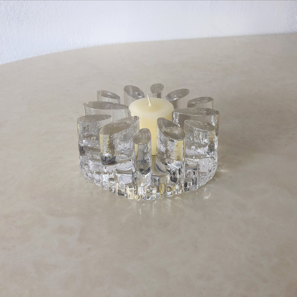 Chunky Glass Votive Holder Centerpiece