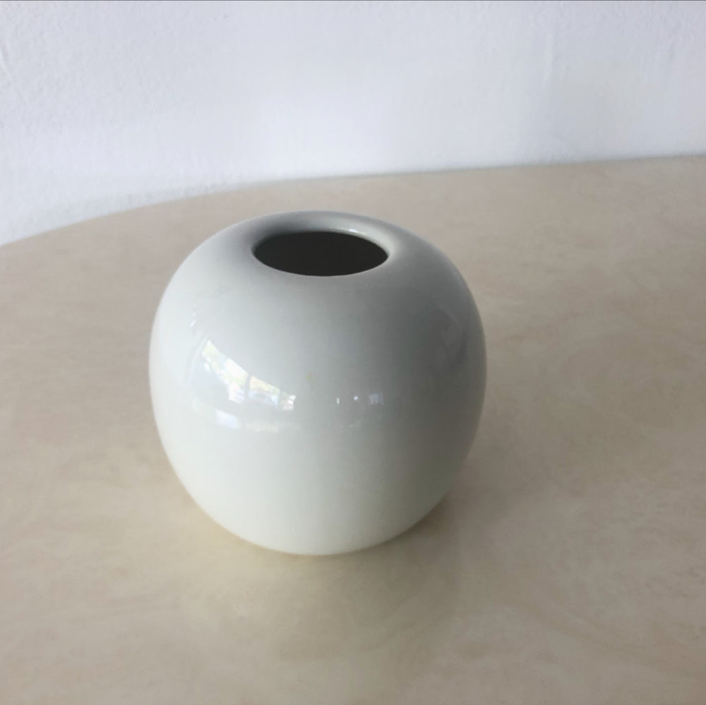 Taupe Spherical Ceramic Vase