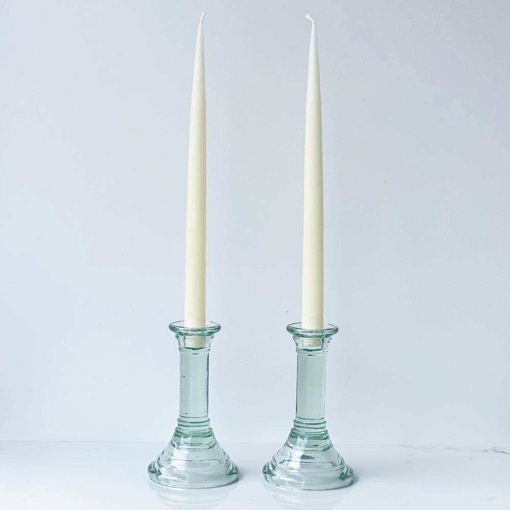 Glass Candle Holders (Set of 2)