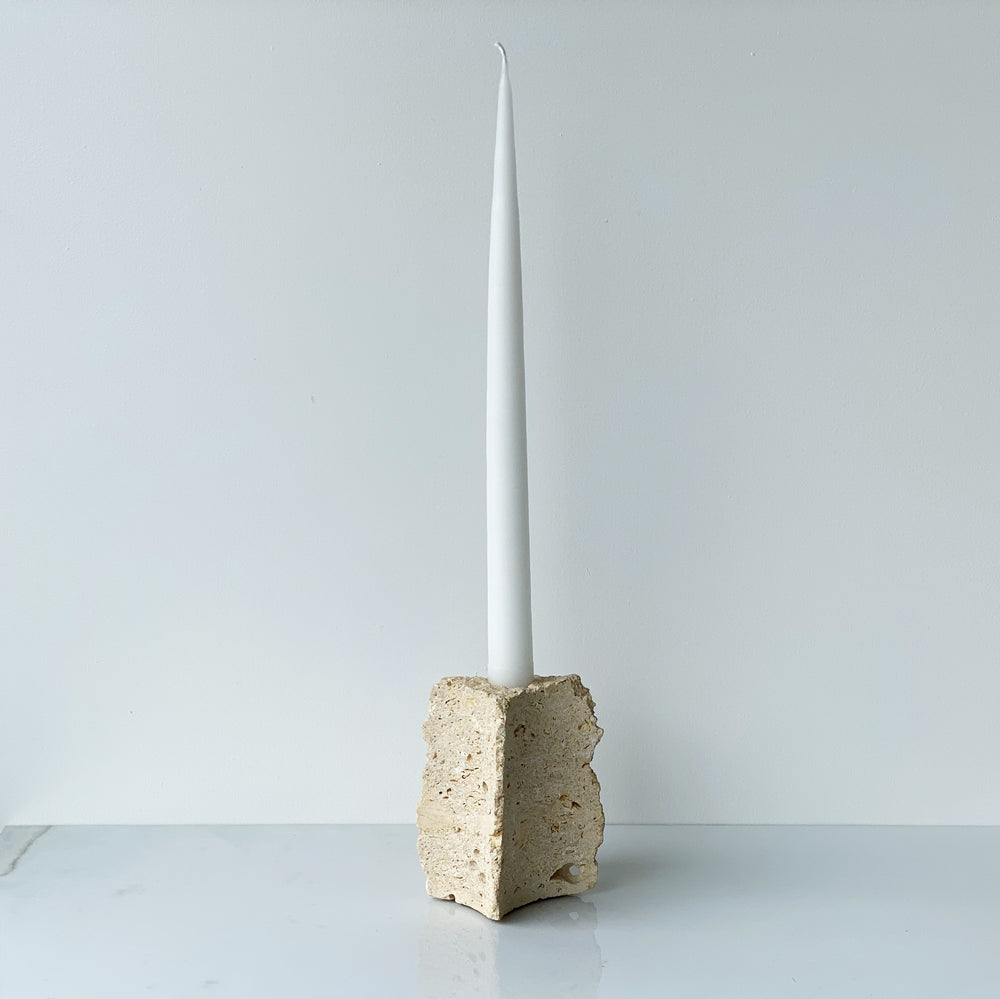 Travertine Candle Holder