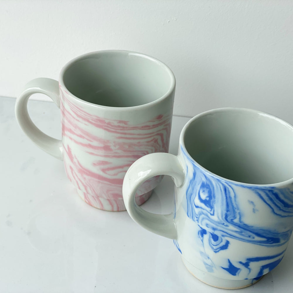 """Marbled"" Ceramic Mugs (Set of 2)"
