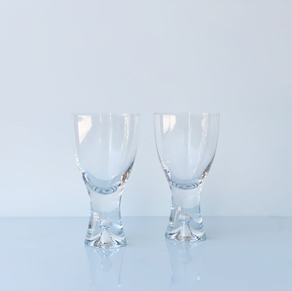 Thick Bubble Stem Wine Glasses (Set of 2)