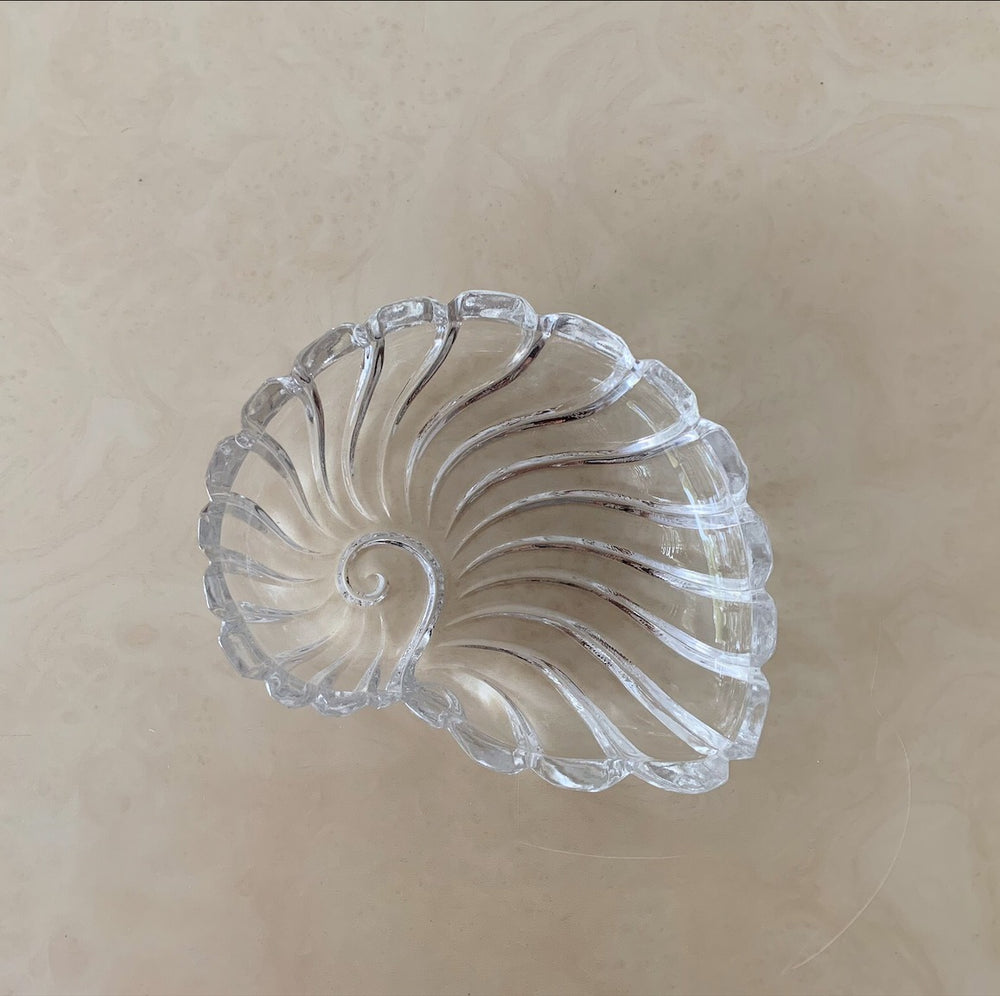 Glass Shell Dish