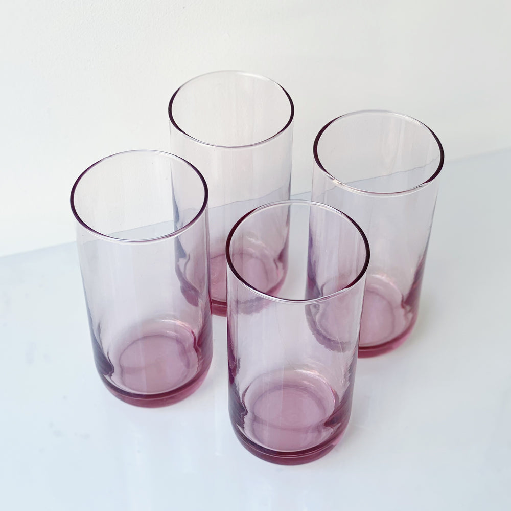 Magenta Drinking Glasses (Set of 4)