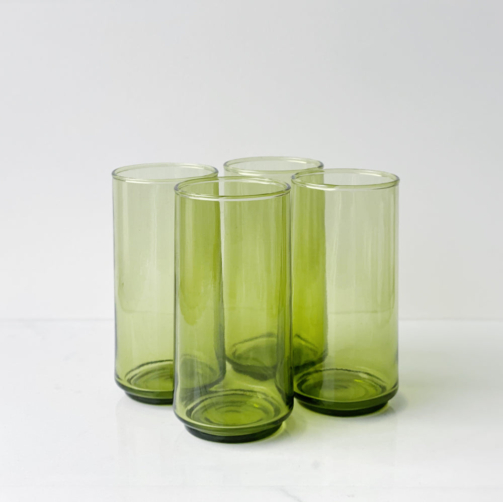 Green Drinking Glasses (Set of 4)