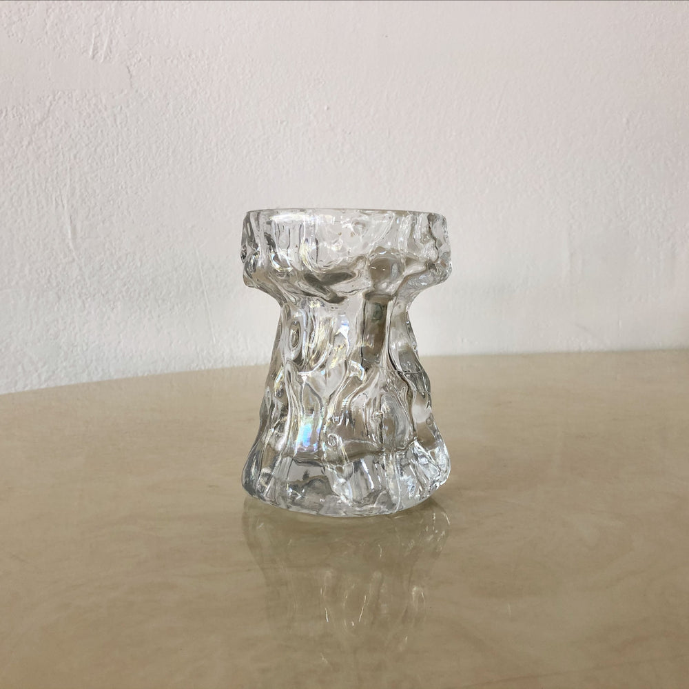 Glass Crinkle Vase