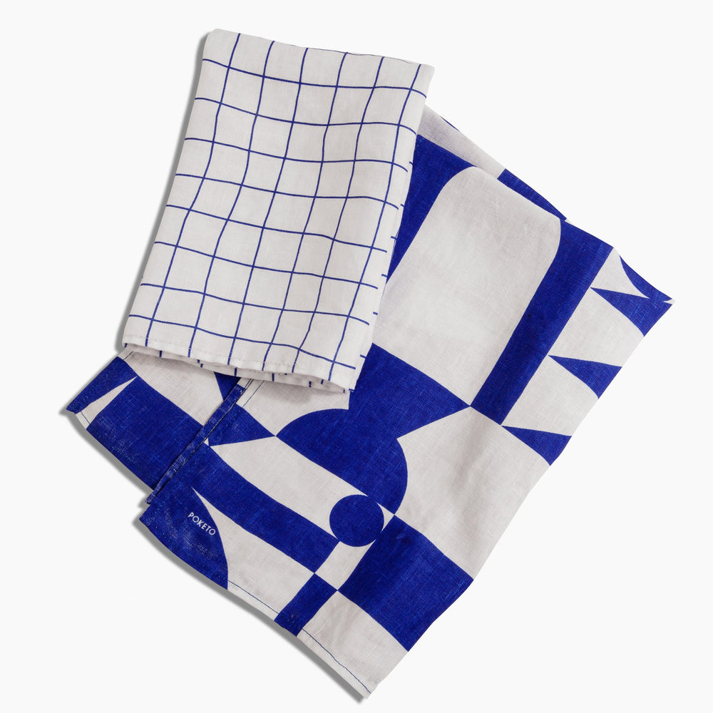 Blue Tea Towel Set