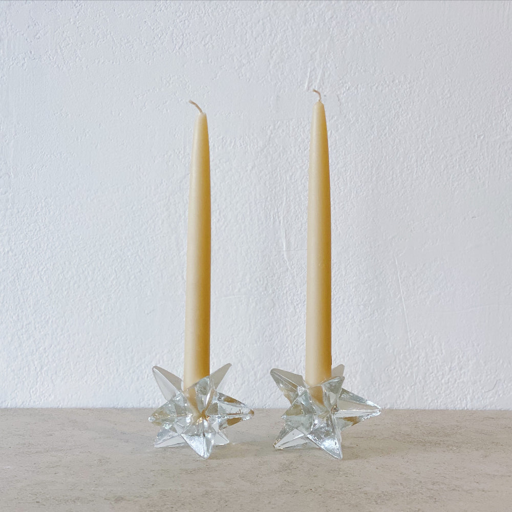 Glass Star Candle Holders (Set of 2)