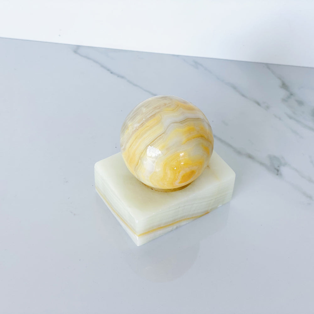 Onyx Ball Paperweight / Object