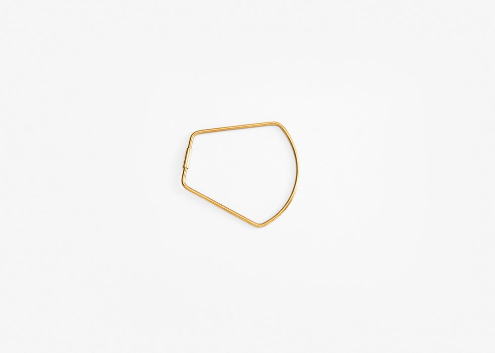 Contour Key Ring - Brass Bell
