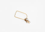 Contour Key Ring - Brass Bend