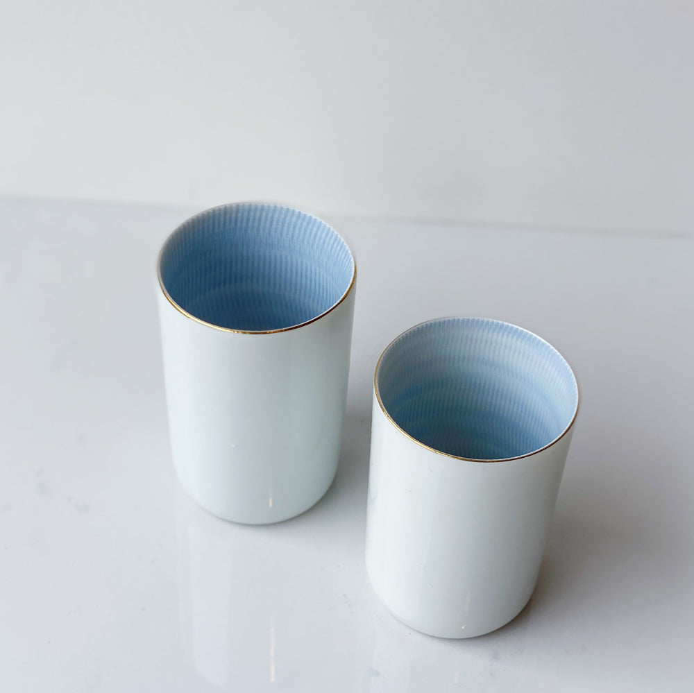 Hand-Painted Gold-Rim Sake Cups (Set of 2)