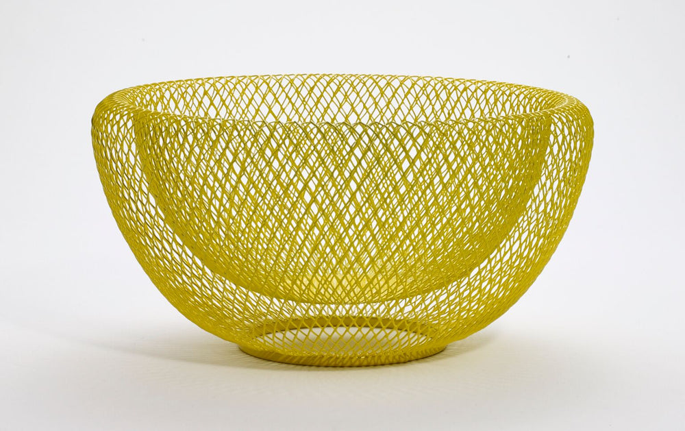 Wire Mesh Bowl - Yellow