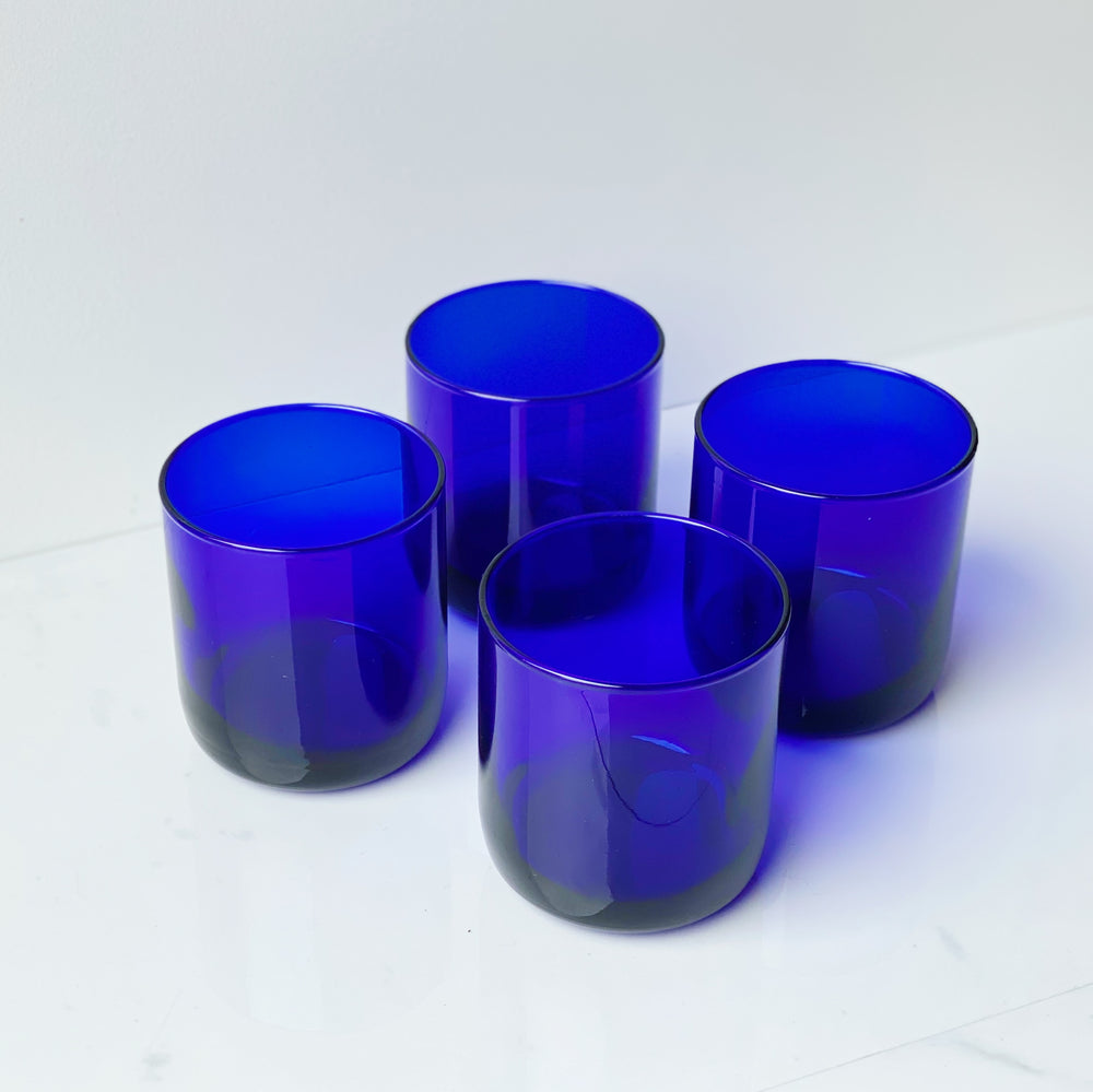 Cobalt Glass Tumblers (Set of 4)
