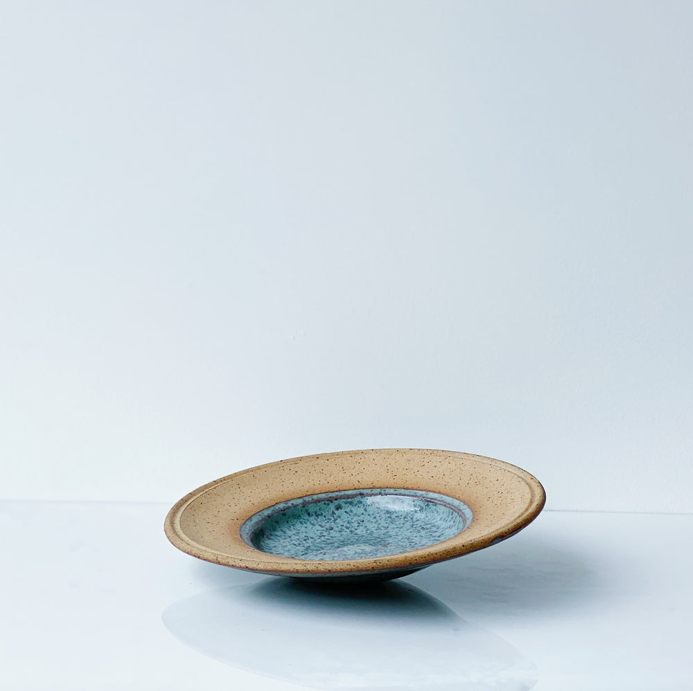 Little Ceramic Dish with Blue Glaze