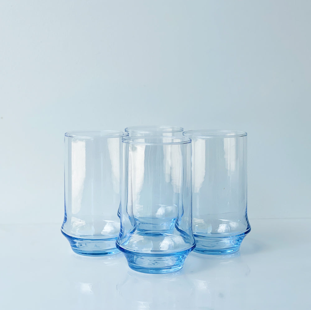 Azure Blue 12oz Rocks Beverage Glass (Set of 4)