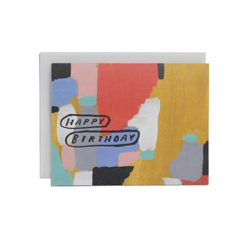 'Happy Birthday' (Circled) Greeting Card