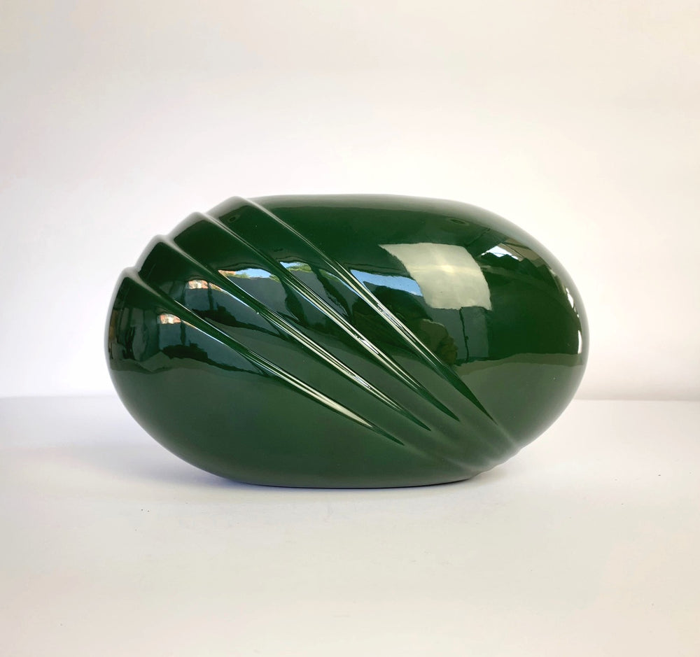 1980s Royal Haeger Green Ceramic Vase