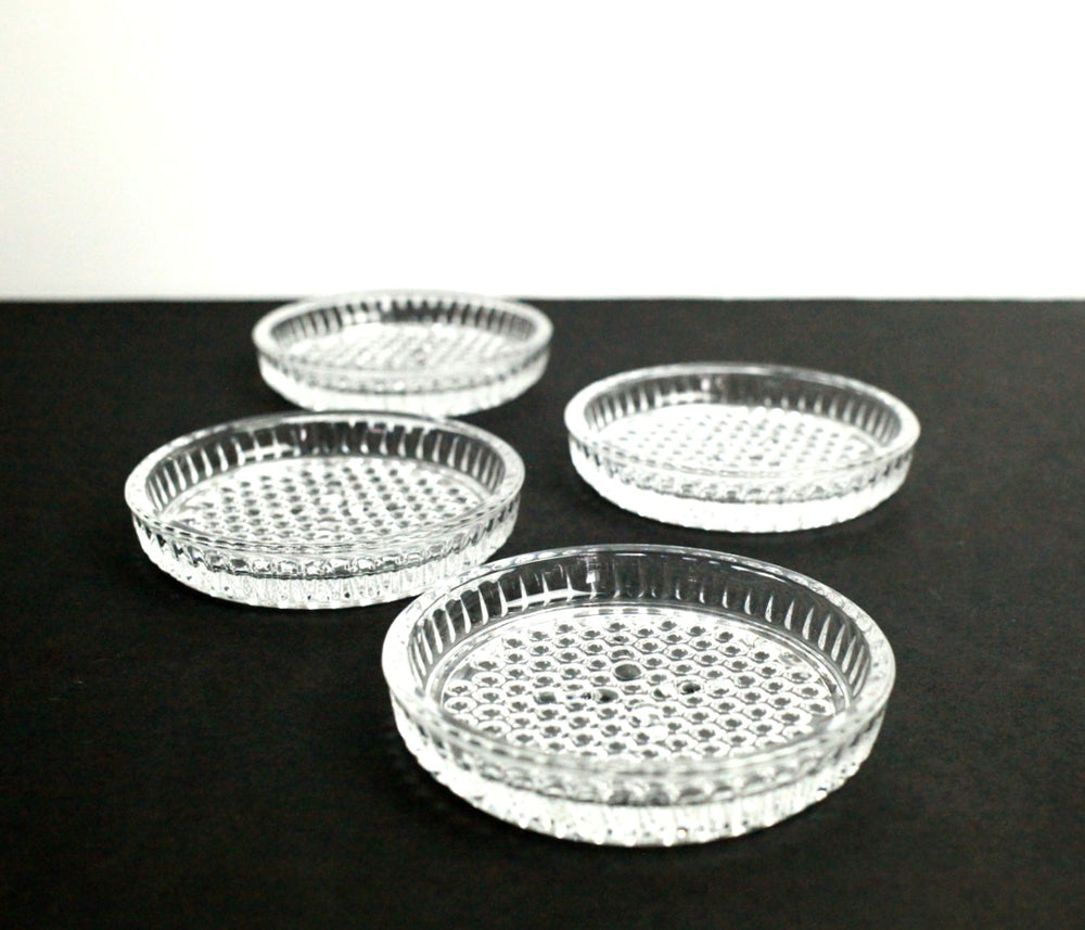 Vintage Glass Coasters (Set of 4)