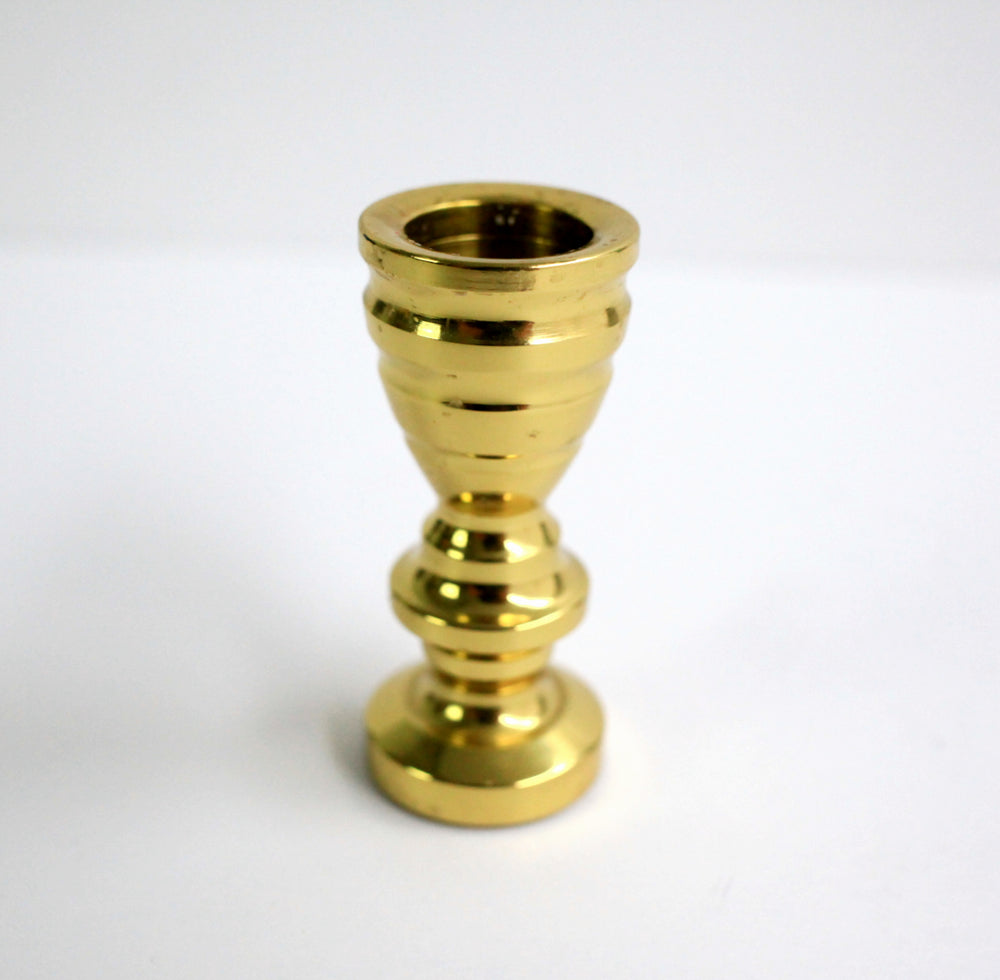 Vintage Solid Brass Candlestick Holders (Set of 3)