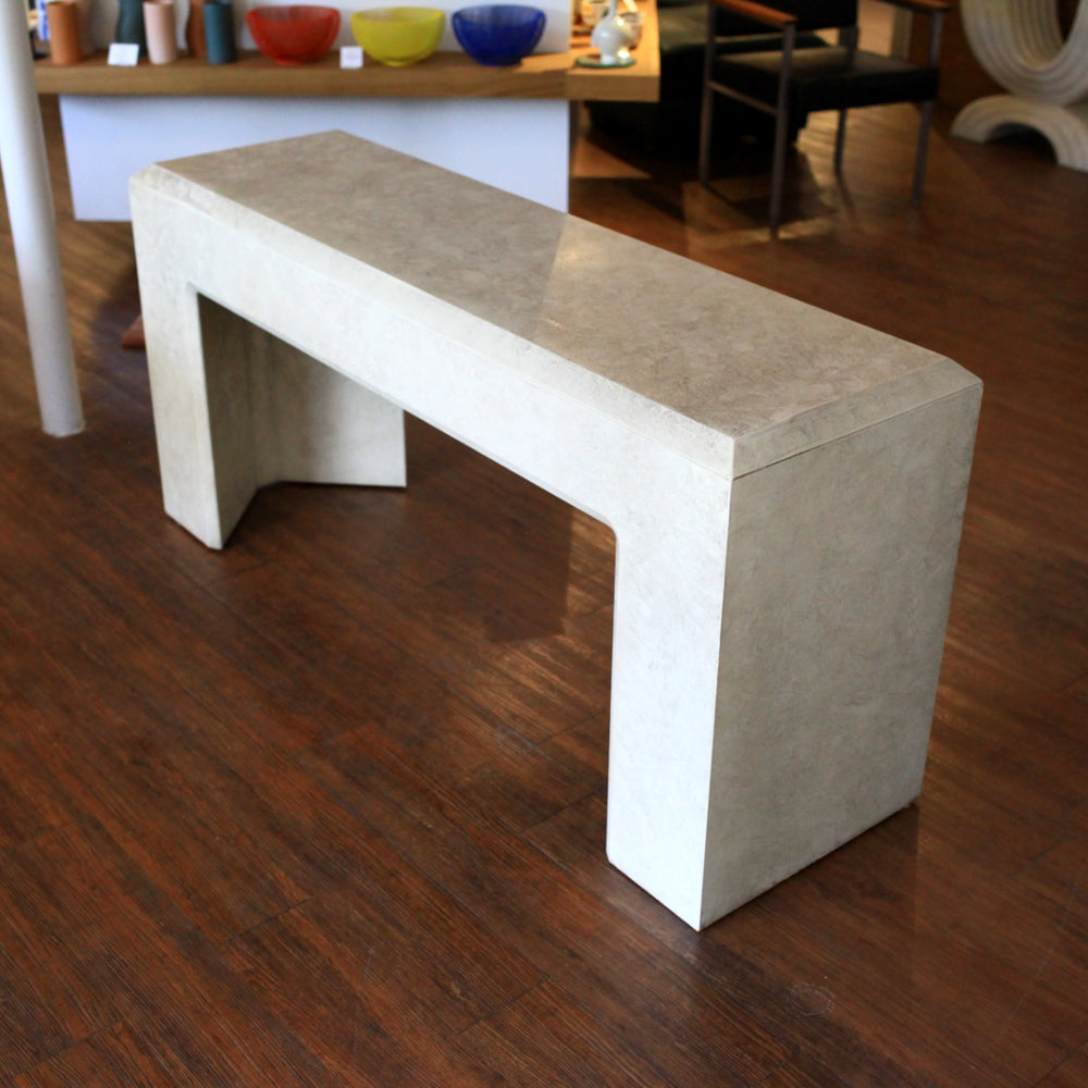 Vintage Matte Laminate Console Table