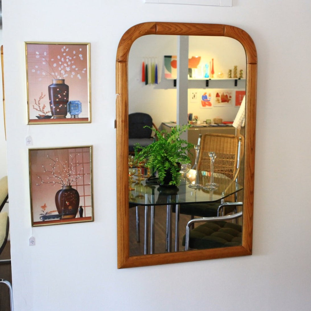 Vintage Solid Oak Mirror