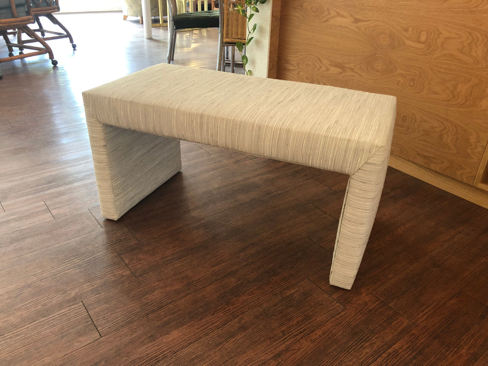 1980s Upholstered Parsons Bench