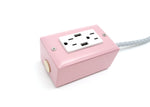Candy Pink 2-Outlet Extension w/ USB - 12ft