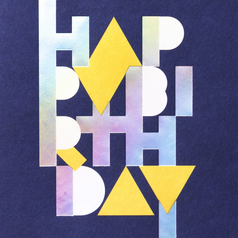 'Holographic Birthday' Greeting Card