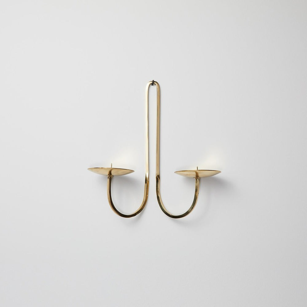 Brass Candle Holder - Two Arm