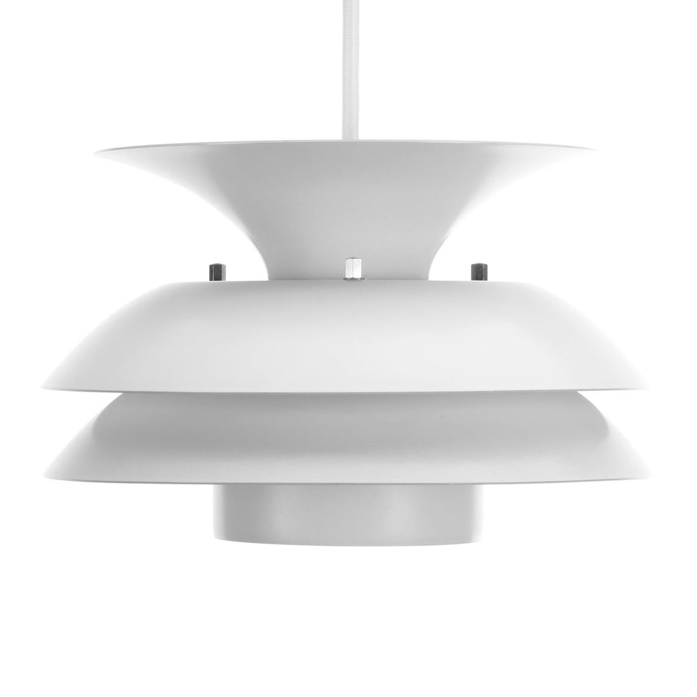 1980s Danish White Pendant Ceiling Lamp