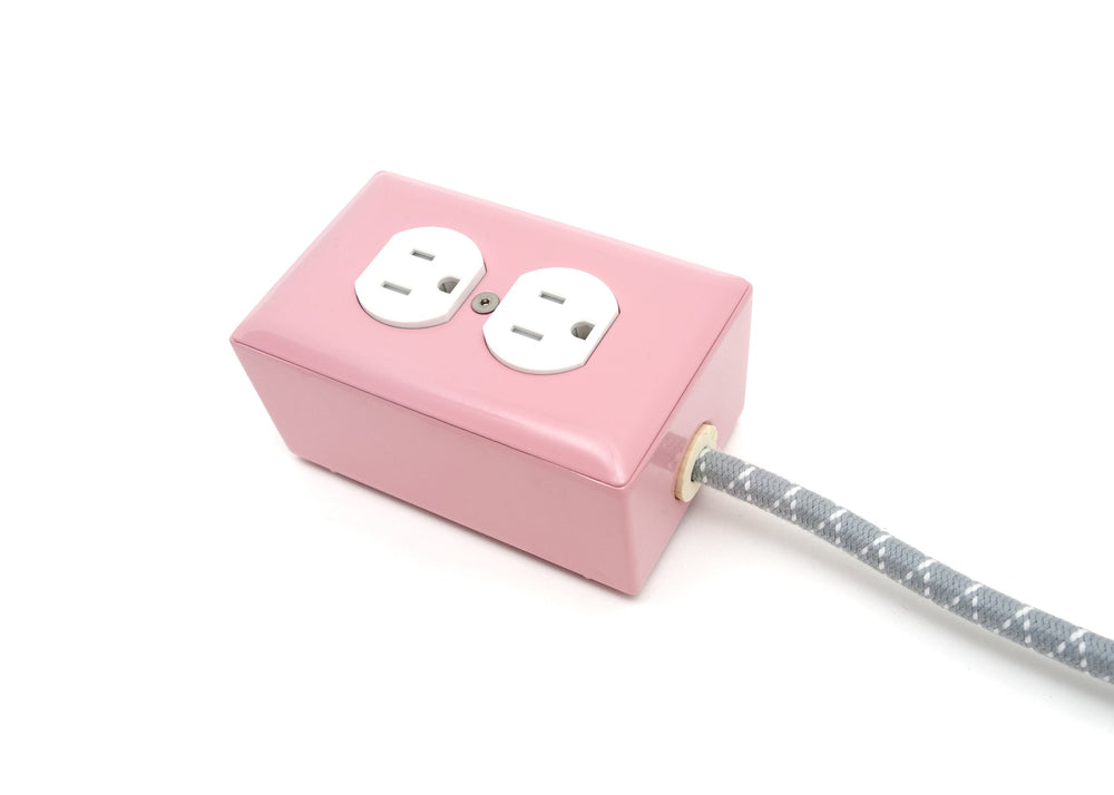 Candy Pink 2-Outlet Extension - 6ft Cord