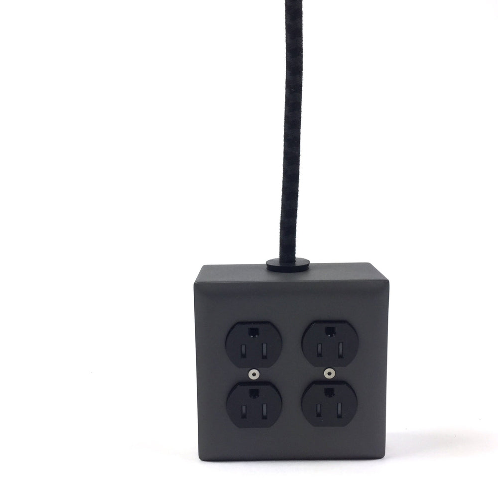 Fog Gray 4-Outlet Extension - 8ft Cord