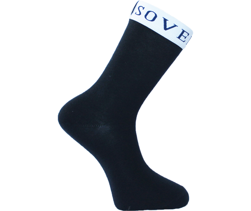 Navy Blue Socks White Trim - Sovereign Socks