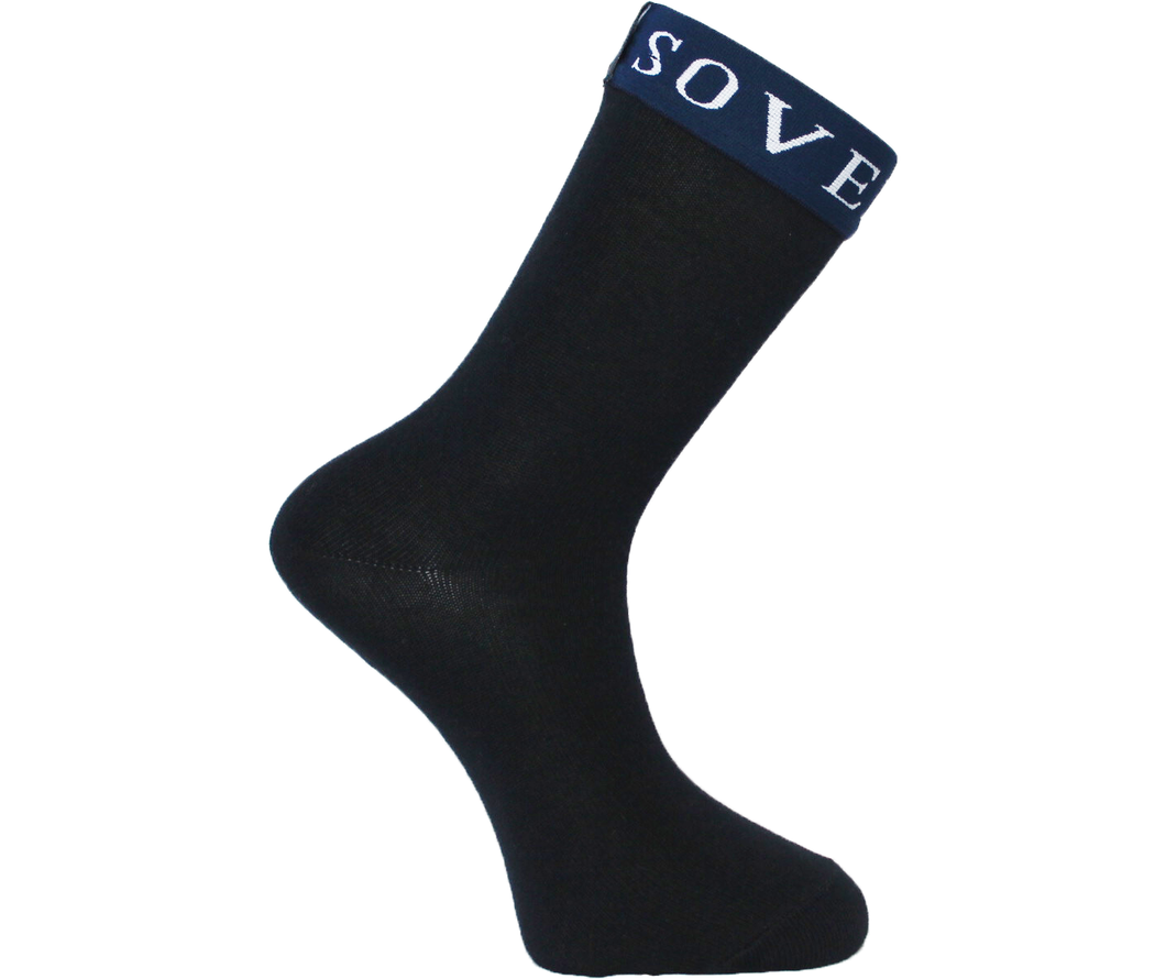 Navy Blue Socks Blue Trim - Sovereign Socks