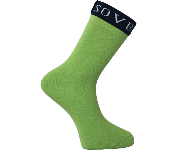 Green Socks Blue Trim - Sovereign Socks