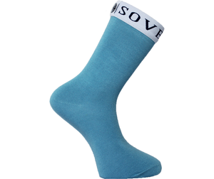 Light Blue Socks White Trim - Sovereign Socks