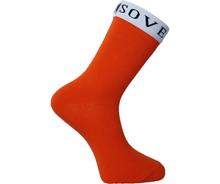 Load image into Gallery viewer, Orange Socks White Trim - Sovereign Socks