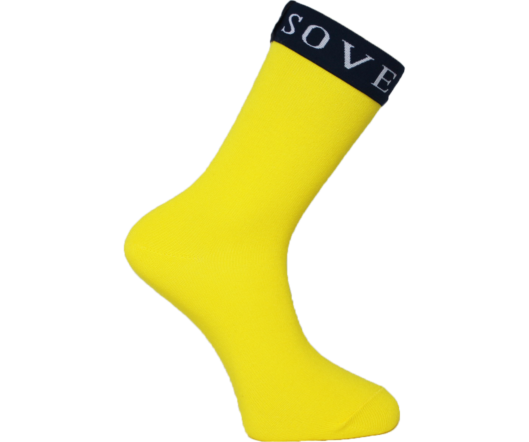 Yellow Socks Blue Trim - Sovereign Socks