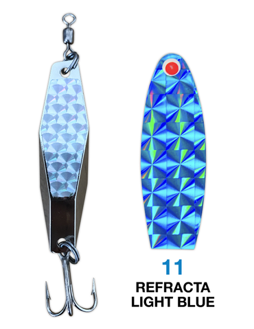 Deadly Dick Diamond Lure - 11 - Refracta Light Blue