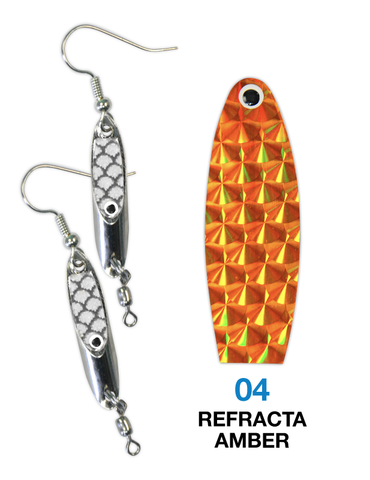 Deadly Dick Earrings - 04 - Refracta Amber