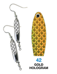 Deadly Dick Earrings - 42 - Gold Hologram
