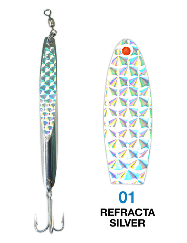 Deadly Dick Deadly Dick Long Casting / Jigging Lure - 01 - Refracta Silver