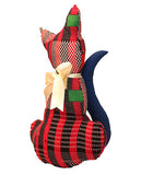 Cale-porte chat pagne rouge & ruban